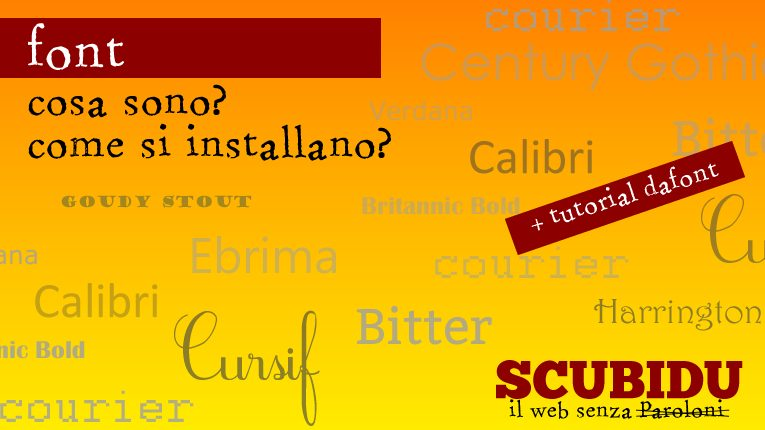 come scaricare font - windows e mac