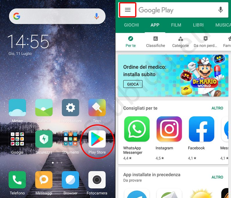 app nascoste android 1