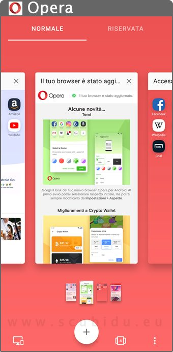 opera browser home page app android