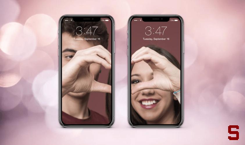 sfondo di coppia smartphone iphone