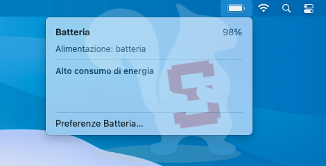 apple macos big sur percentuale batteria