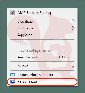 windows desktop personalizza