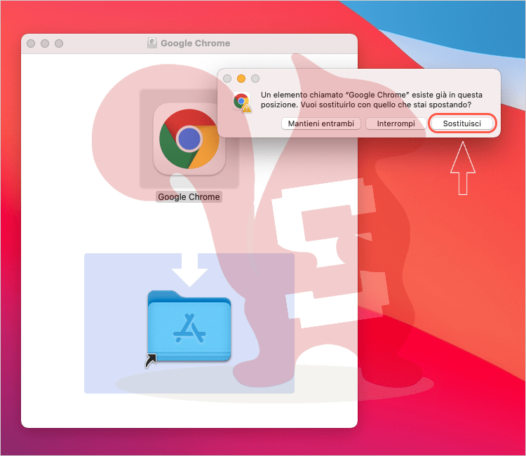 apple macos google chrome reinstallare