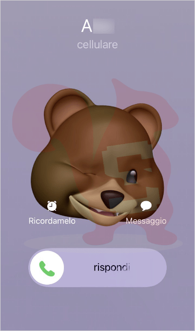 apple memoji animale chiamata
