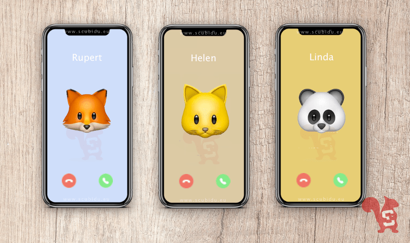 apple associare memoji animale contatto rubrica