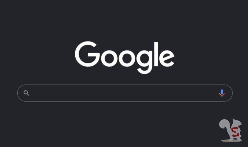 google search dark mode tema scuro